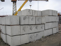 Фундаментные бетонные блоки, купить киев, фото